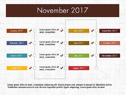 Timeline Concept, Slide 12, 04015, Timelines & Calendars — PoweredTemplate.com