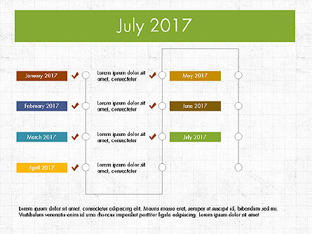 Timeline Concept, Slide 8, 04015, Timelines & Calendars — PoweredTemplate.com