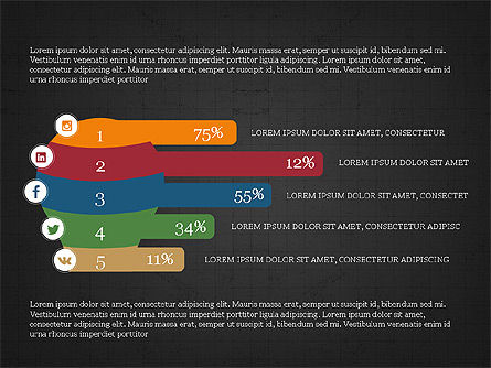 Social Media Flat Designed Presentation Concept Slide 11