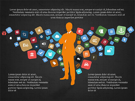Social Media Flat Designed Presentation Concept Slide 12