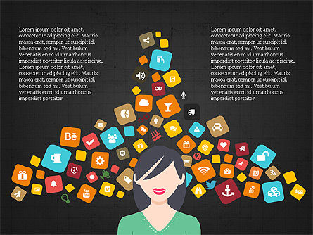 Social Media Flat Designed Presentation Concept Slide 9