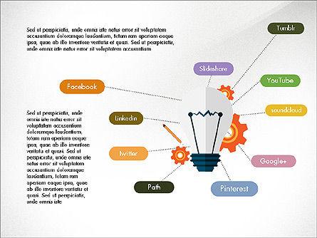 Trendy Presentation Template in Flat Design Style, Slide 8, 04026, Presentation Templates — PoweredTemplate.com