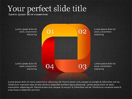 Stage Diagram Collection, Slide 13, 04032, Shapes — PoweredTemplate.com