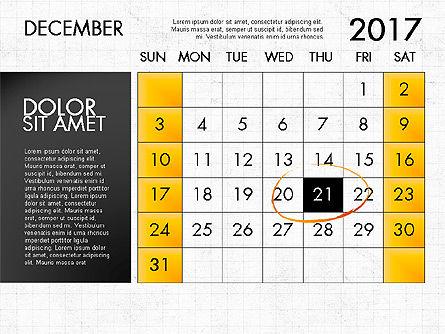 2017 Calendar for PowerPoint Template, Slide 13, 04034, Timelines & Calendars — PoweredTemplate.com