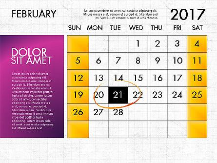 2017 Calendar for PowerPoint Template Slide 3