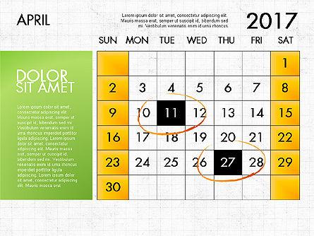 2017 Calendar for PowerPoint Template, Slide 5, 04034, Timelines & Calendars — PoweredTemplate.com