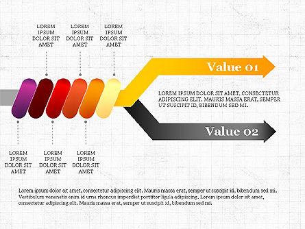 Winding Process  Arrow Diagram, Slide 8, 04037, Process Diagrams — PoweredTemplate.com