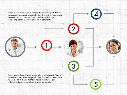 Partnership Flowchart Template, 04039, Flow Charts — PoweredTemplate.com