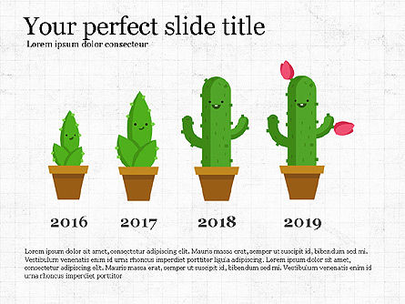 Growing Plant Presentation Concept, 04040, Infographics — PoweredTemplate.com