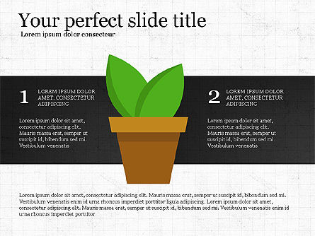 Growing Plant Presentation Concept, Slide 3, 04040, Infographics — PoweredTemplate.com