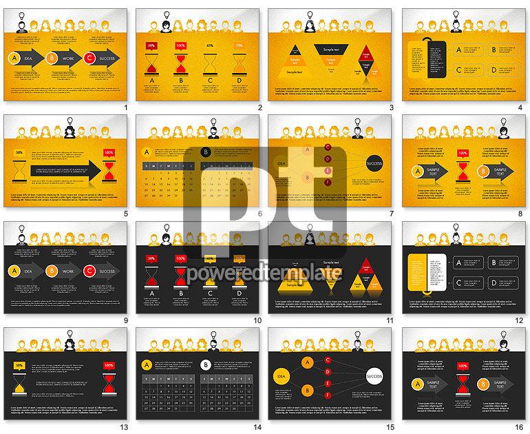 Idea, Work, Success Presentation Concept