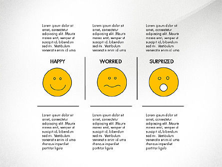 Emotions Presentation Concept, 04048, Presentation Templates — PoweredTemplate.com