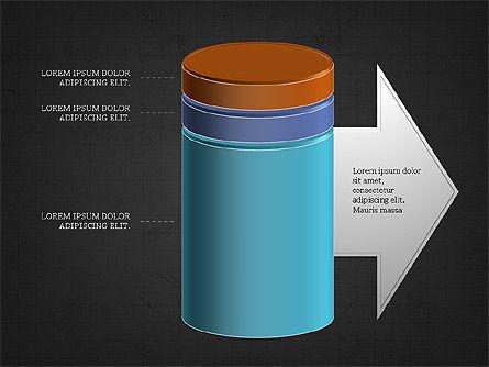 3D Stacked Cylinder Diagram Slide 10