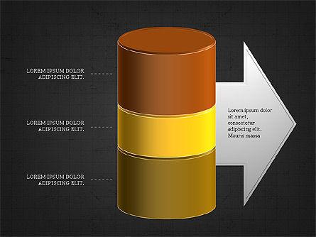 3D Stacked Cylinder Diagram Slide 11