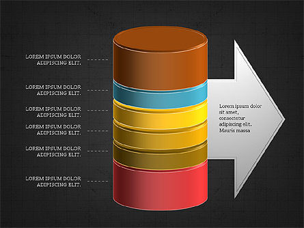 3D Stacked Cylinder Diagram Slide 12
