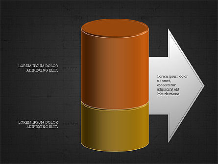 3D Stacked Cylinder Diagram Slide 13