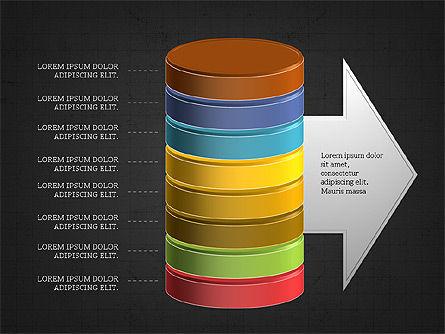 3D Stacked Cylinder Diagram Slide 14