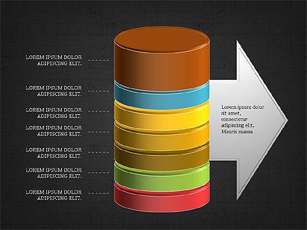 3D Stacked Cylinder Diagram Slide 15