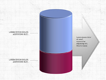 3D Stacked Cylinder Diagram Slide 5
