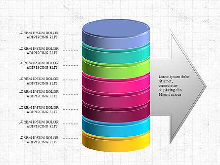 3D Stacked Cylinder Diagram Slide 6