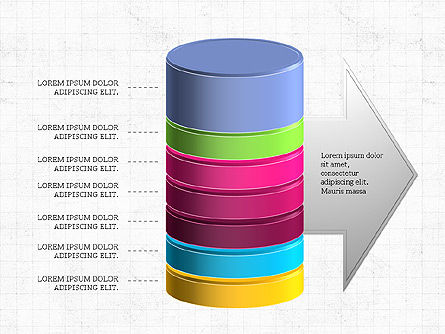 3D Stacked Cylinder Diagram Slide 7