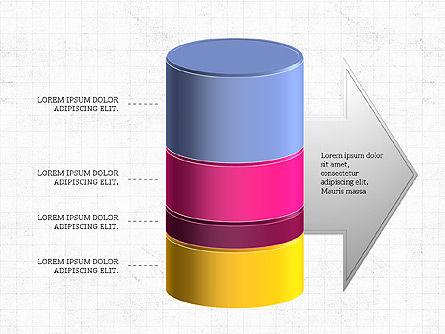 3D Stacked Cylinder Diagram Slide 8
