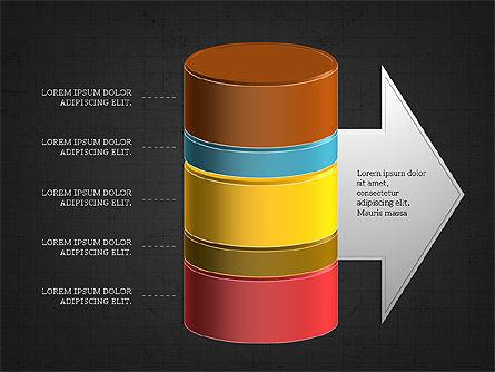 3D Stacked Cylinder Diagram Slide 9