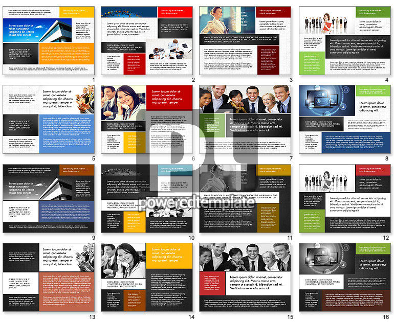 Business People Brochure Presentation Template