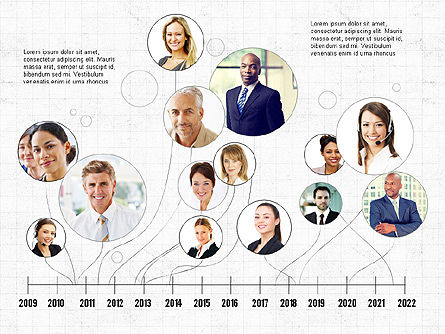 Timelines & Calendars: Business Networking and Team Presentation Concept #04065