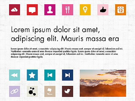 Icons: Brochure Presentation Template with Icons #04066