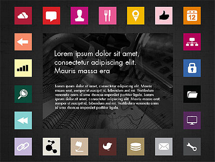 Brochure Presentation Template with Icons Slide 12