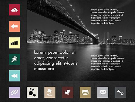 Brochure Presentation Template with Icons Slide 15