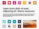 Icons: Brochure presentatie sjabloon met pictogrammen #04066