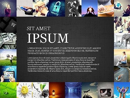Simple Brochure Presentation Template, Slide 10, 04070, Presentation Templates — PoweredTemplate.com