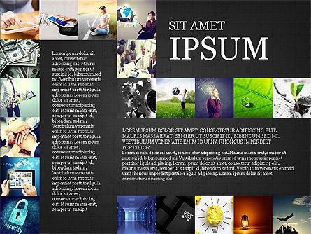 Simple Brochure Presentation Template, Slide 12, 04070, Presentation Templates — PoweredTemplate.com