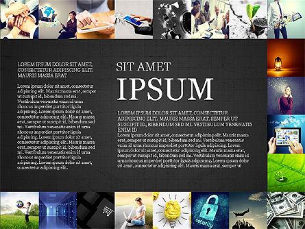 Simple Brochure Presentation Template, Slide 13, 04070, Presentation Templates — PoweredTemplate.com