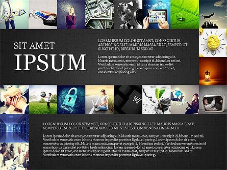 Simple Brochure Presentation Template, Slide 14, 04070, Presentation Templates — PoweredTemplate.com