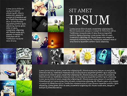 Simple Brochure Presentation Template, Slide 15, 04070, Presentation Templates — PoweredTemplate.com