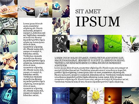 Simple Brochure Presentation Template, Slide 4, 04070, Presentation Templates — PoweredTemplate.com