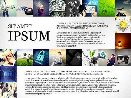 Simple Brochure Presentation Template, Slide 6, 04070, Presentation Templates — PoweredTemplate.com