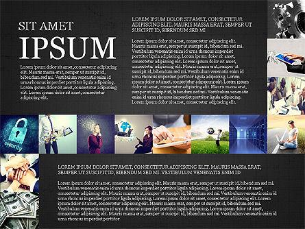 Simple Brochure Presentation Template, Slide 9, 04070, Presentation Templates — PoweredTemplate.com