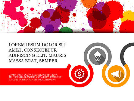 Process and Icons Slide Deck, Slide 2, 04077, Process Diagrams — PoweredTemplate.com