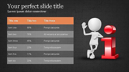 Presentation with 3D Person, Slide 16, 04084, Presentation Templates — PoweredTemplate.com