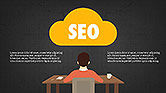 SEO Presentation with Flat Icons#9