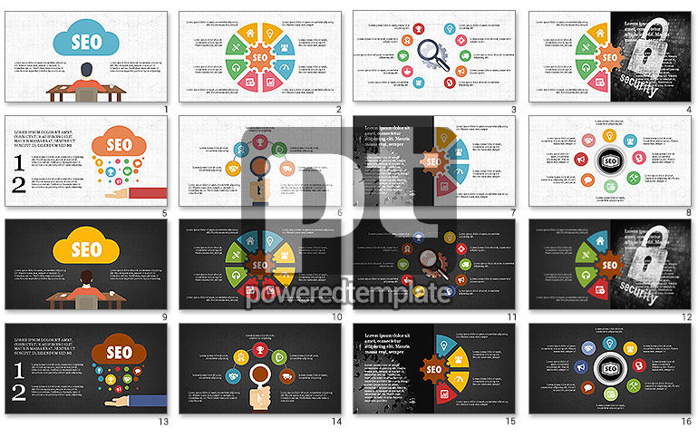 SEO Presentation with Flat Icons