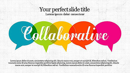Collaborative Presentation Template, 04093, Presentation Templates — PoweredTemplate.com