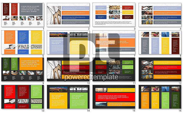 Grid Layout Presentation Template