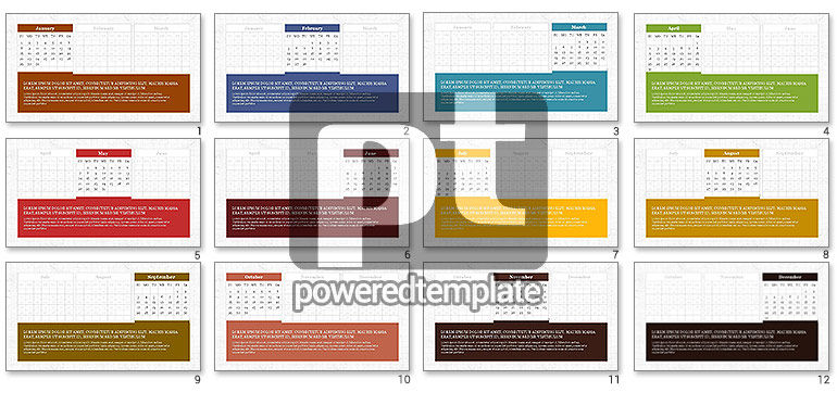 PowerPoint Calendar Template