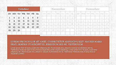 PowerPoint Calendar Template, Slide 10, 04095, Timelines & Calendars — PoweredTemplate.com