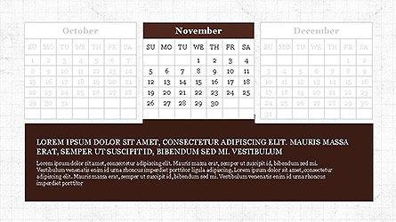PowerPoint Calendar Template, Slide 11, 04095, Timelines & Calendars — PoweredTemplate.com